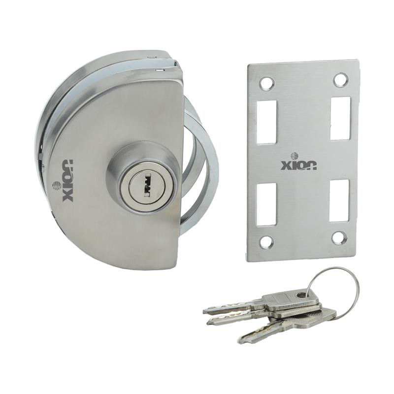 XN-GL-3 (Key & Knob), Wall to Glass Door Lock (Round Type)